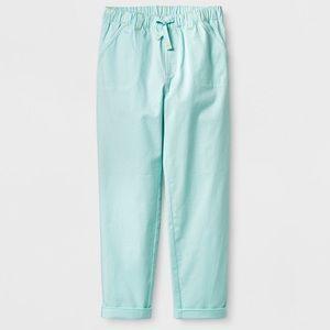 Cat & Jack Girls' Stretch Twill Fashion Pants 7/8